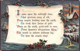 hol051825 - Christmas Postcard Old Vintage Antique Post Card