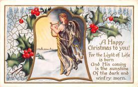 hol051827 - Christmas Postcard Old Vintage Antique Post Card