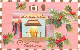 hol051841 - Christmas Postcard Old Vintage Antique Post Card