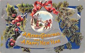 hol051843 - Christmas Postcard Old Vintage Antique Post Card