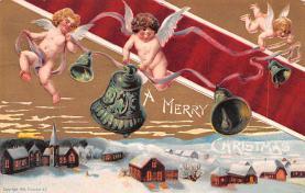 hol051847 - Christmas Postcard Old Vintage Antique Post Card