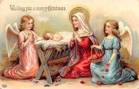 hol051849 - Christmas Postcard Old Vintage Antique Post Card