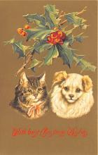hol051855 - Christmas Postcard Old Vintage Antique Post Card