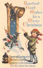 hol051861 - Christmas Postcard Old Vintage Antique Post Card