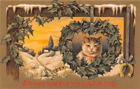 hol051865 - Christmas Postcard Old Vintage Antique Post Card