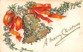 hol051873 - Christmas Postcard Old Vintage Antique Post Card