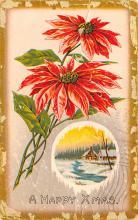 hol051877 - Christmas Postcard Old Vintage Antique Post Card