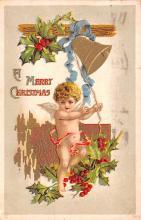 hol051881 - Christmas Postcard Old Vintage Antique Post Card