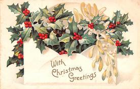 hol051885 - Christmas Postcard Old Vintage Antique Post Card