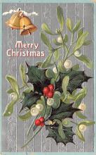 hol051887 - Christmas Postcard Old Vintage Antique Post Card