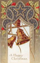 hol051889 - Christmas Postcard Old Vintage Antique Post Card