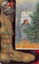 hol051893 - Christmas Postcard Old Vintage Antique Post Card