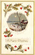 hol051897 - Christmas Postcard Old Vintage Antique Post Card