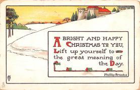 hol051909 - Christmas Postcard Old Vintage Antique Post Card