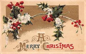 hol051915 - Christmas Postcard Old Vintage Antique Post Card
