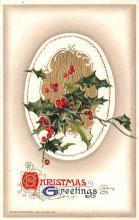 hol051917 - Christmas Postcard Old Vintage Antique Post Card