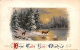 hol051919 - Christmas Postcard Old Vintage Antique Post Card