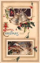 hol051923 - Christmas Postcard Old Vintage Antique Post Card