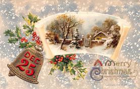 hol051925 - Christmas Postcard Old Vintage Antique Post Card