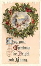 hol051931 - Christmas Postcard Old Vintage Antique Post Card