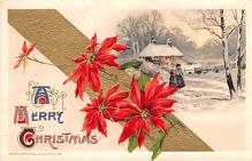 hol051945 - Christmas Postcard Old Vintage Antique Post Card