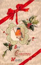 hol051947 - Christmas Postcard Old Vintage Antique Post Card