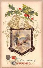 hol051963 - Christmas Postcard Old Vintage Antique Post Card
