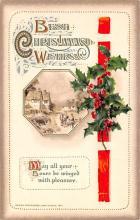 hol051969 - Christmas Postcard Old Vintage Antique Post Card