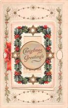 hol051971 - Christmas Postcard Old Vintage Antique Post Card