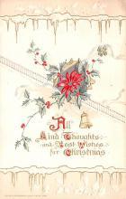 hol051977 - Christmas Postcard Old Vintage Antique Post Card