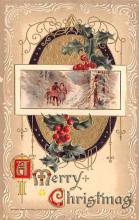 hol051983 - Christmas Postcard Old Vintage Antique Post Card