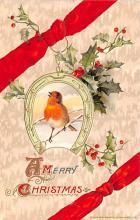 hol051985 - Christmas Postcard Old Vintage Antique Post Card
