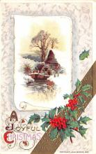 hol051987 - Christmas Postcard Old Vintage Antique Post Card