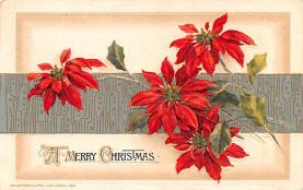 hol051989 - Christmas Postcard Old Vintage Antique Post Card