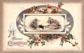 hol051995 - Christmas Postcard Old Vintage Antique Post Card