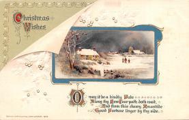 hol052001 - Christmas Postcard Old Vintage Antique Post Card