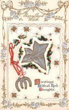 hol052003 - Christmas Postcard Old Vintage Antique Post Card