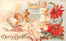 hol052005 - Christmas Postcard Old Vintage Antique Post Card