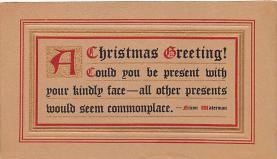 hol052007 - Christmas Postcard Old Vintage Antique Post Card