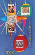 hol052009 - Christmas Postcard Old Vintage Antique Post Card