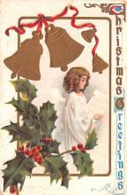 hol052011 - Christmas Postcard Old Vintage Antique Post Card
