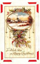 hol052013 - Christmas Postcard Old Vintage Antique Post Card