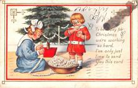 hol052015 - Christmas Postcard Old Vintage Antique Post Card
