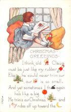 hol052023 - Christmas Postcard Old Vintage Antique Post Card