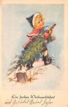 hol052027 - Christmas Postcard Old Vintage Antique Post Card