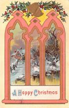 hol052031 - Christmas Postcard Old Vintage Antique Post Card