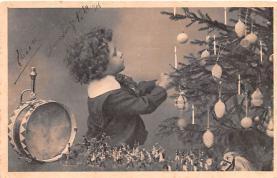 hol052033 - Christmas Postcard Old Vintage Antique Post Card