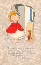hol052035 - Christmas Postcard Old Vintage Antique Post Card