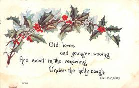 hol052037 - Christmas Postcard Old Vintage Antique Post Card