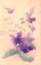 hol052041 - Christmas Postcard Old Vintage Antique Post Card